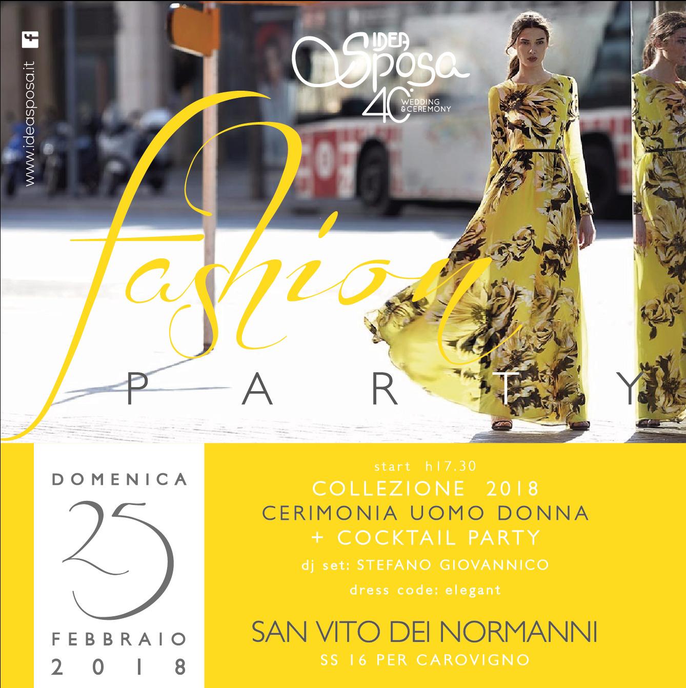 6ef9f609b954 Idea Sposa Fashion Party - Idea Sposa