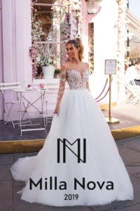 14e1463d46a2 Con i bellissimi abiti da sposa di Milla Nova è possibile Enfatizzare il  tuo essere elegante e raffinata con stile.